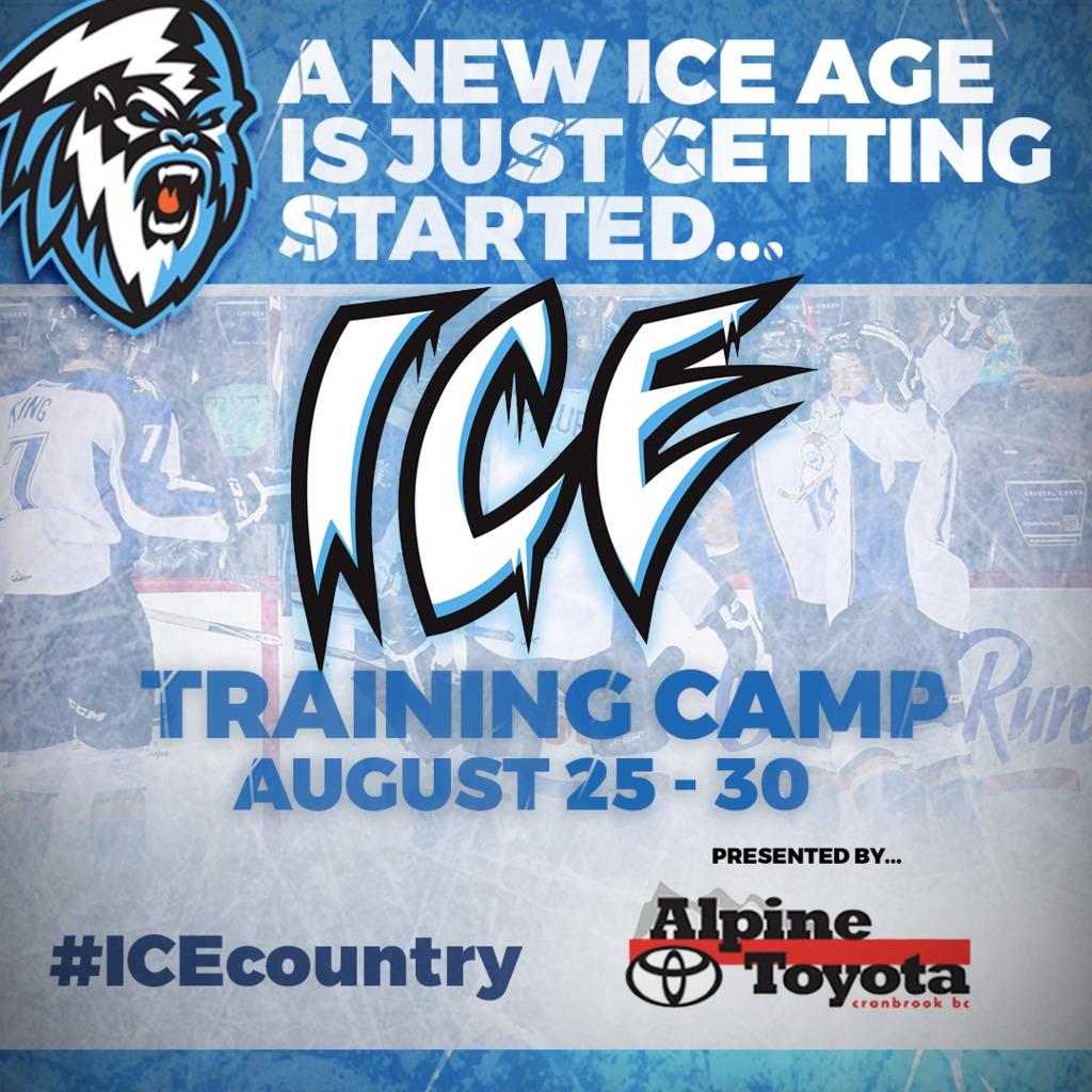 WHL: Kootenay ICE release training camp schedule, roster