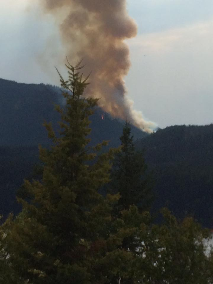 Wildfire near Moyie doubles to 100 HA