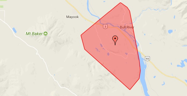 270 BC Hydro customers without power in Bull River/Wardner area