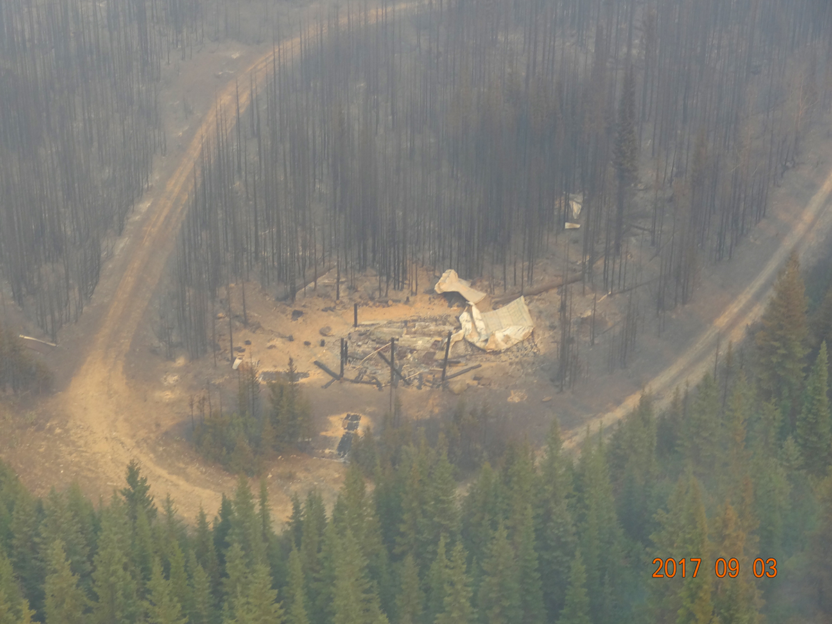 Four regional structures damaged or destroyed by wildfires