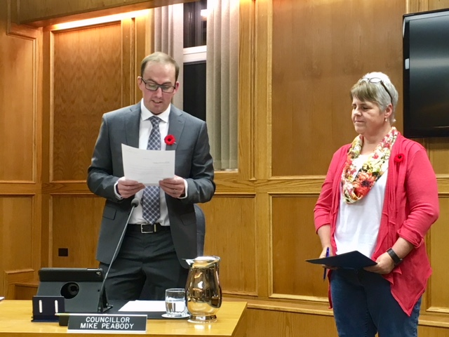 Peabody officially sworn in as Cranbrook City Councillor