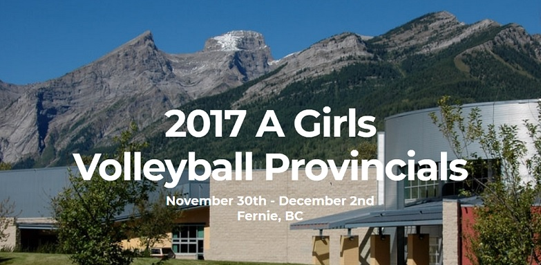 Elk Valley schools competing in Girls Volleyball Provincials in Fernie