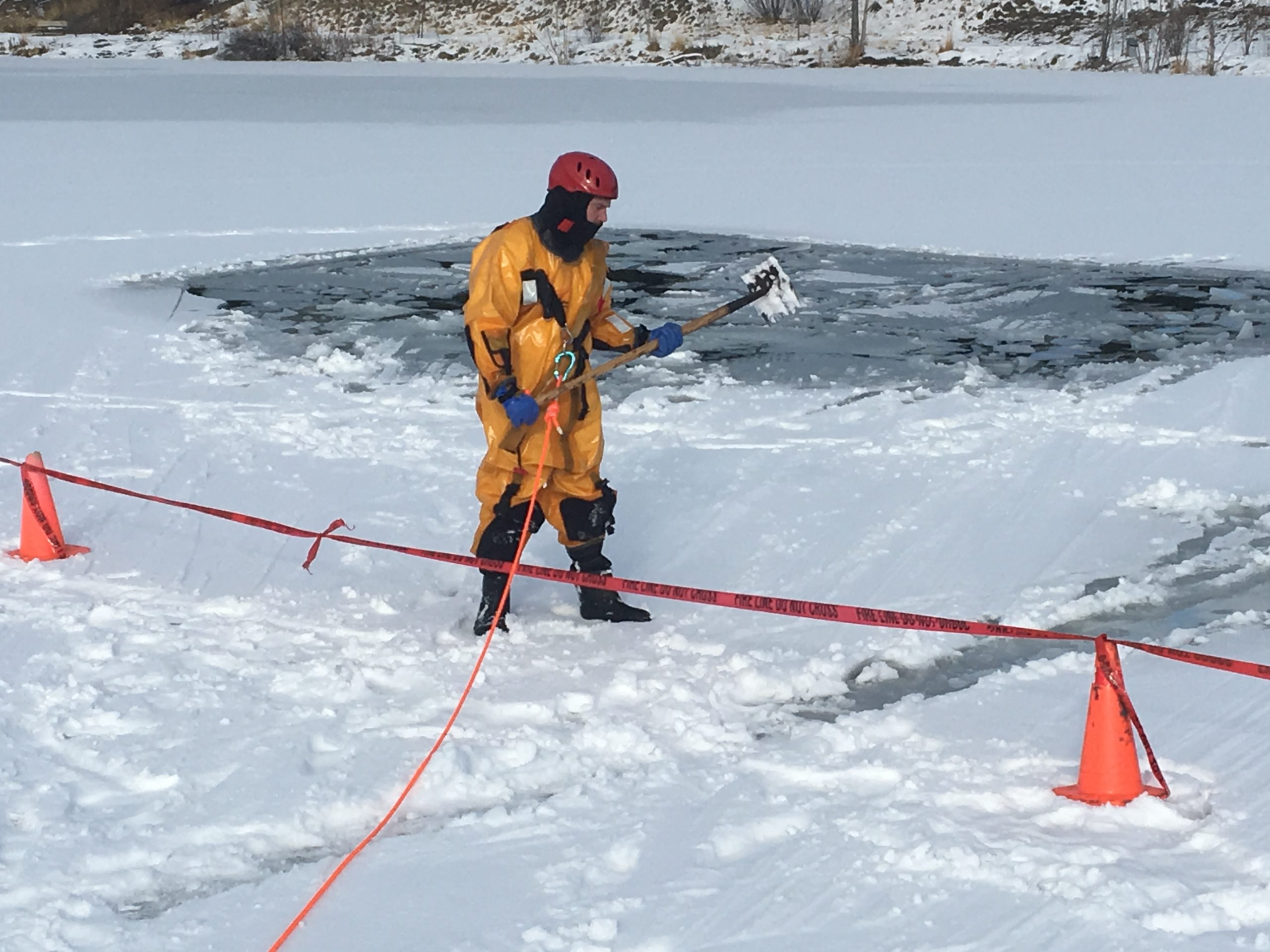 Cranbrook Fire conducting ice rescue exercises this week
