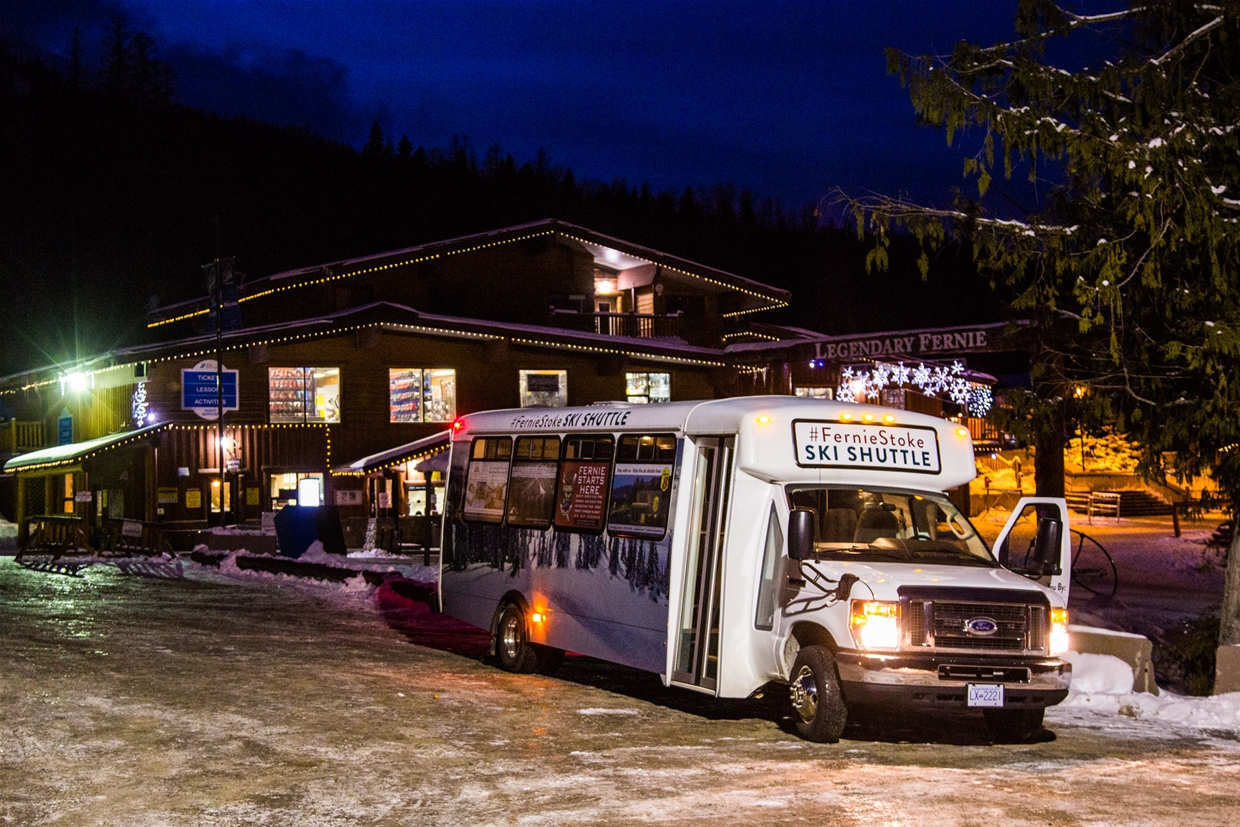 Fernie shuttle service connects downtown with ski hill