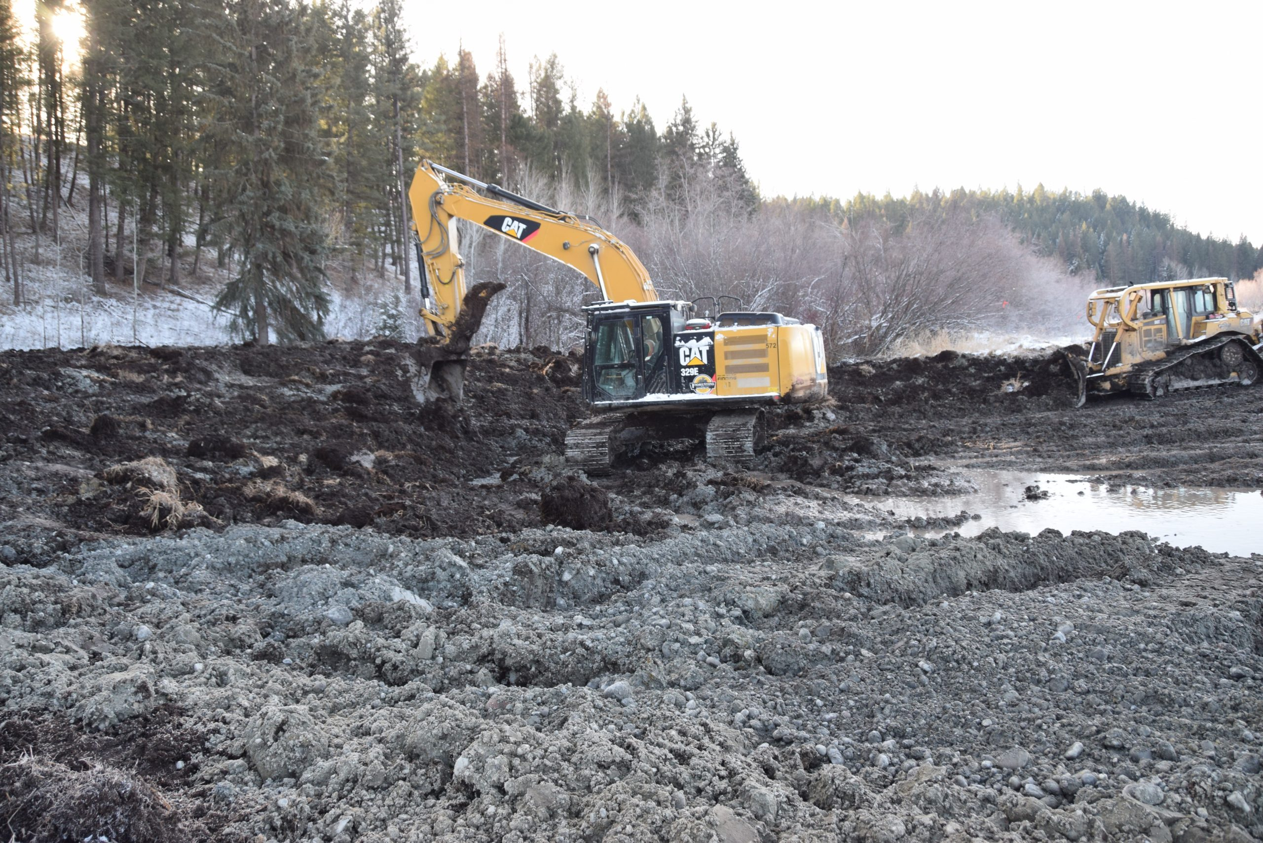Wetland restoration near Ta Ta Creek underway