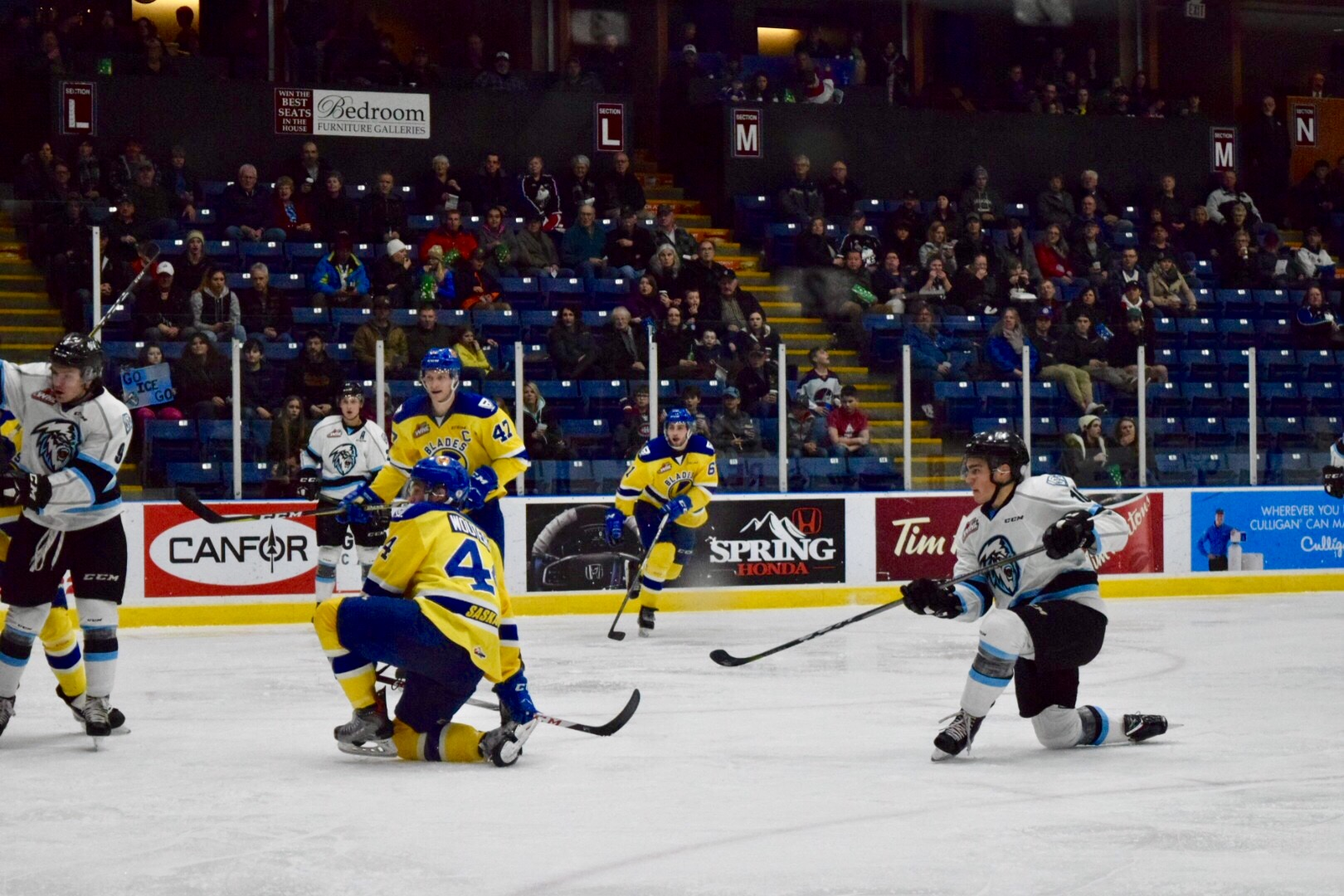WHL: ICE breeze by Blades, snap six-game skid