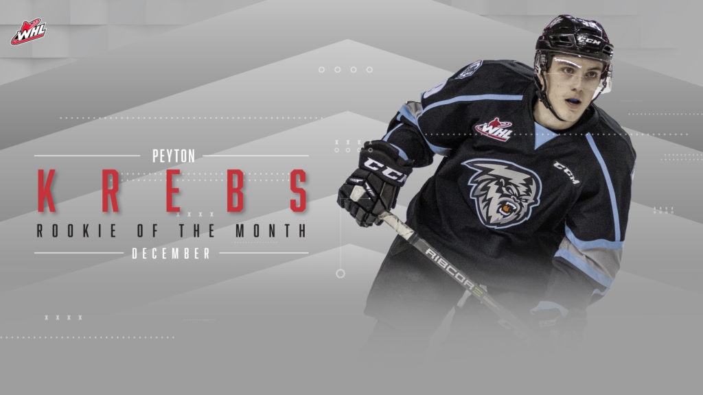 WHL: Krebs reflects on December Rookie of the Month honours