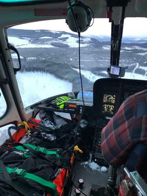 Cranbrook SAR airlifts injured snowmobiler from backcountry