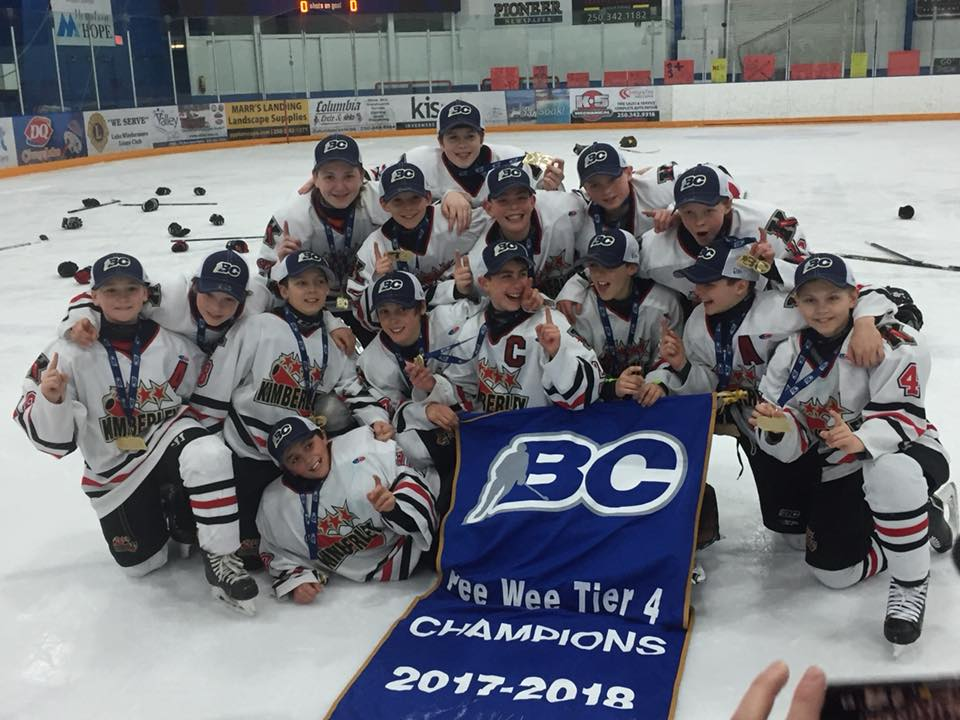 Kimberley Peewee Dynamiters win BC Championship