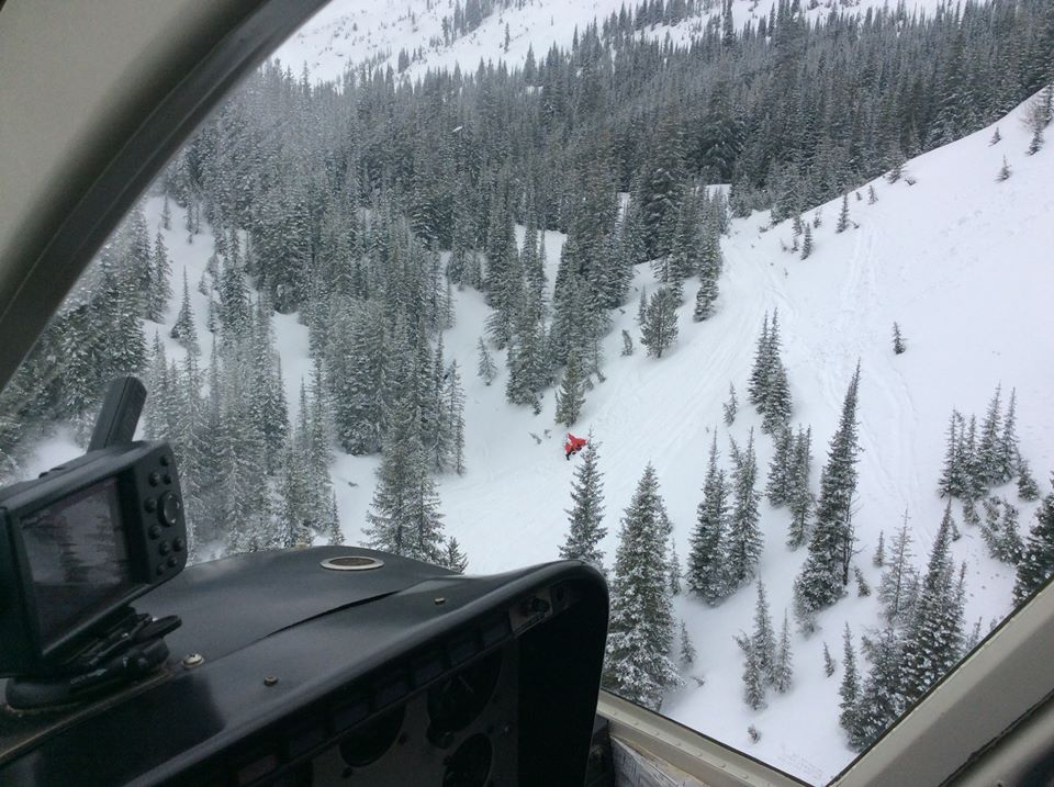 Helicopter deployed to rescue injured snowmobiler near Fernie