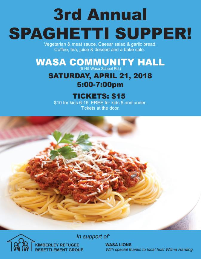 KRRG to host spaghetti fundraiser for second refugee family