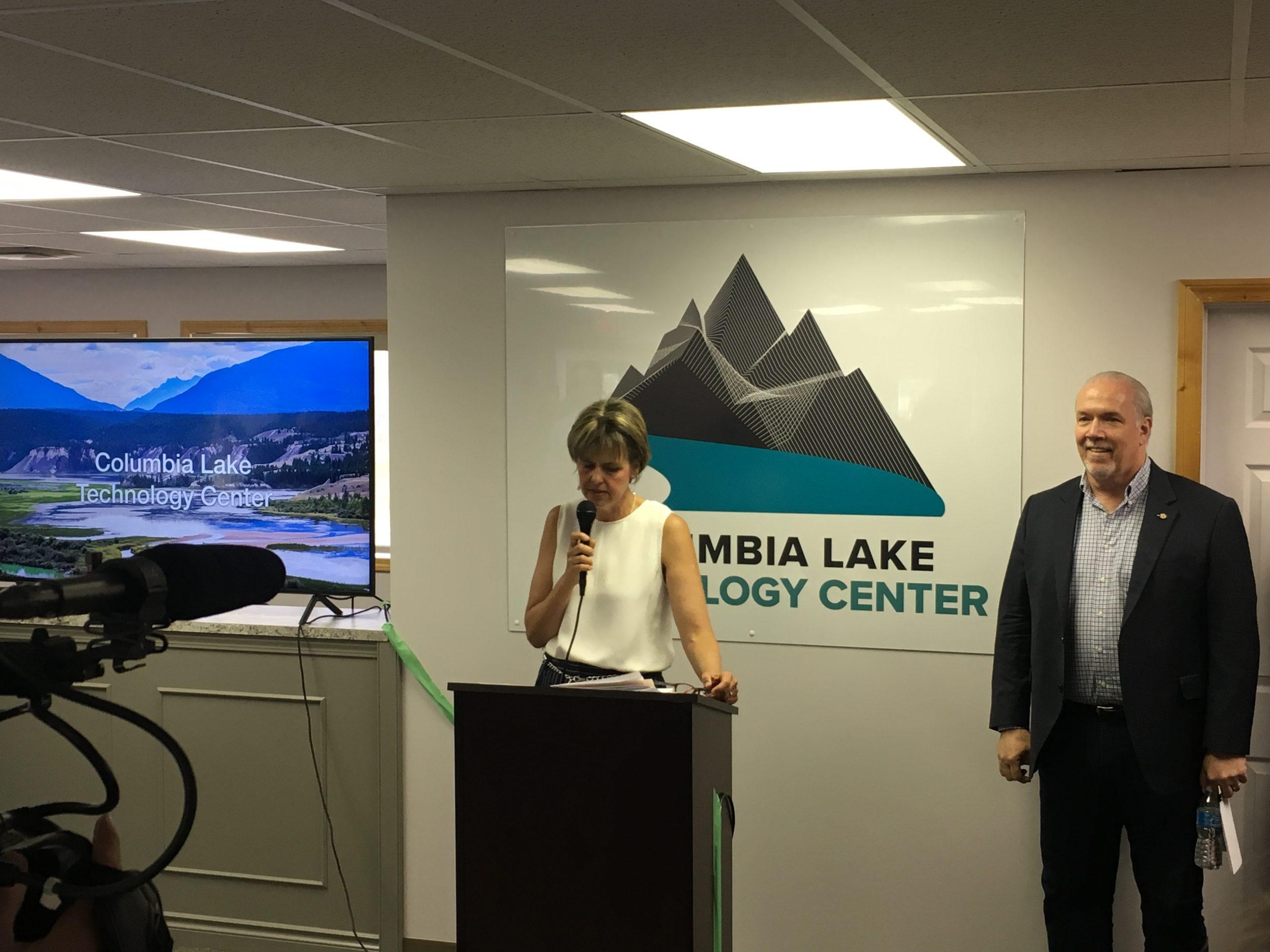 BC Premier touts new Canal Flats tech centre