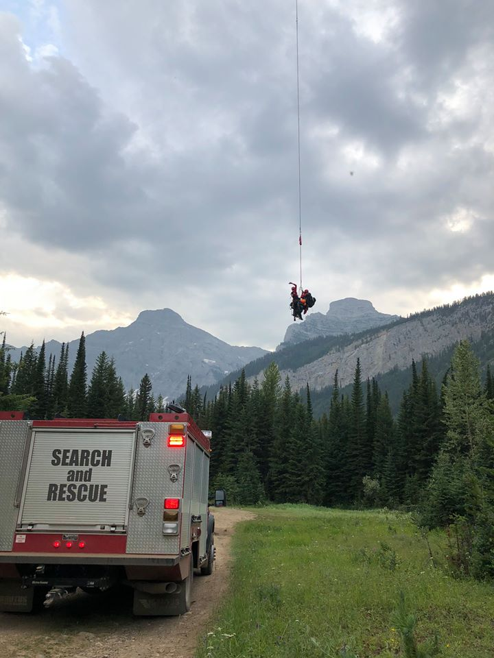 Helicopter used to rescue hiker on Heiko's Trail near Fernie
