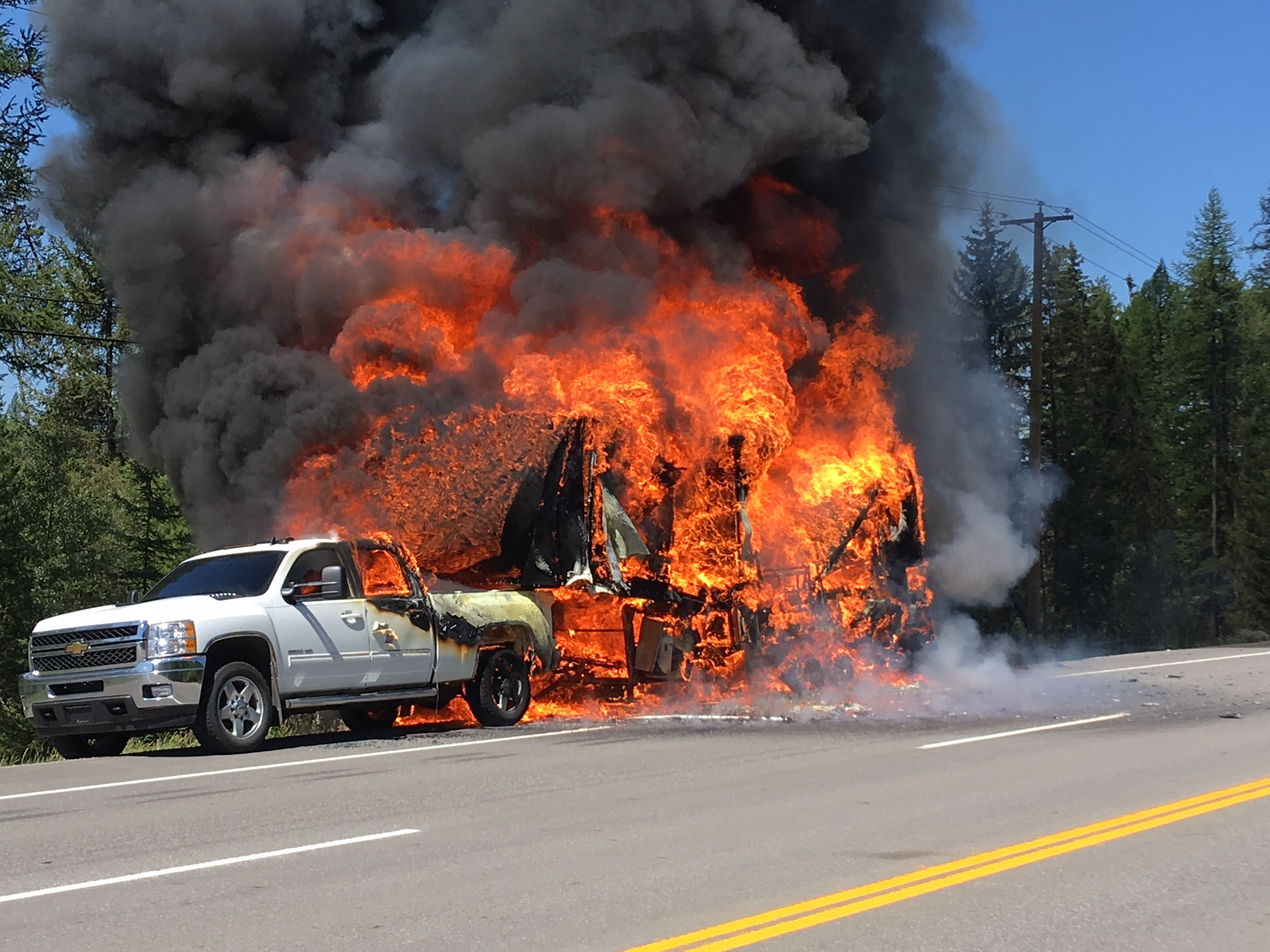 UPDATE: Highway 3/93 reopens after vehicle fire near Galloway