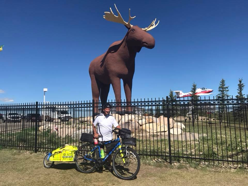 Kimberley man's cross-nation cycling trek continues from Regina