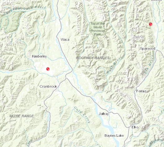 Crews tending to two East Kootenay wildfires