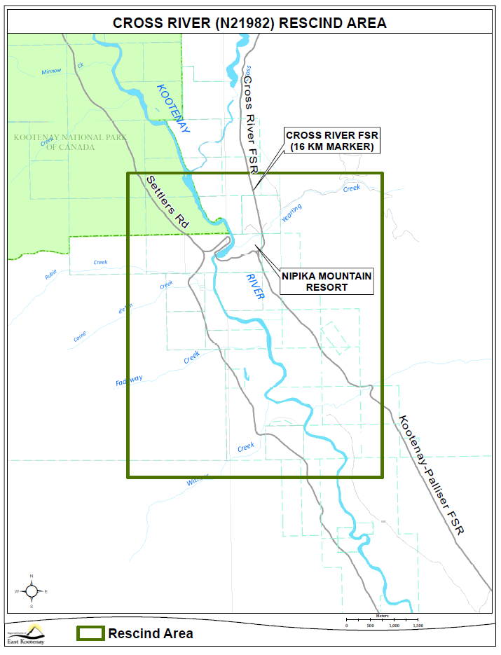 Evacuation ORDER for Cross River area near Radium downgraded to ALERT