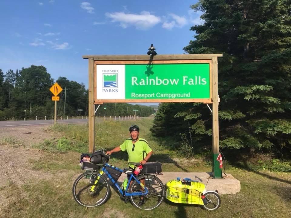Kimberley man's bike trek reaches Ontario