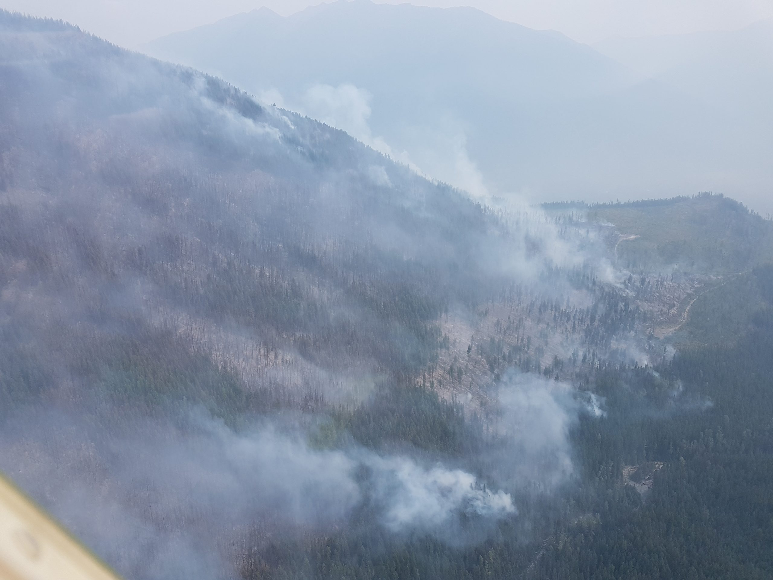 Smoke limiting aircraft efforts at Meachen Creek fire, no extreme fire activity overnight