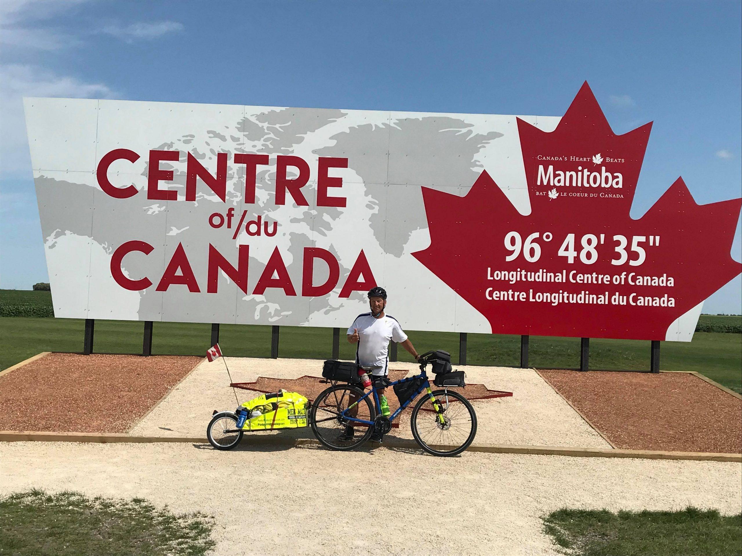 Kimberley's Dave Podmoroff has biked half of Canada