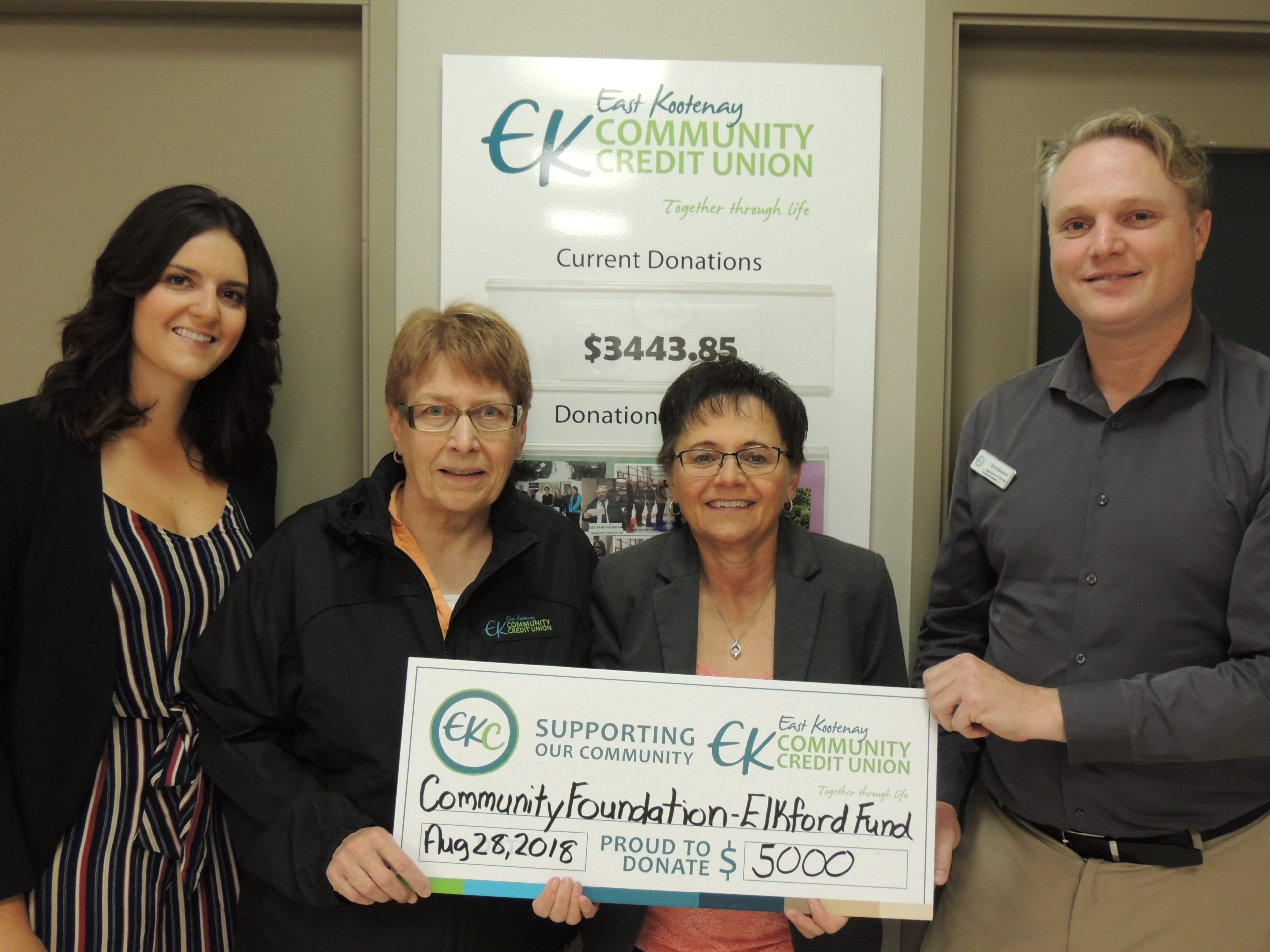 Elkford Community Fund received $5,000 donation