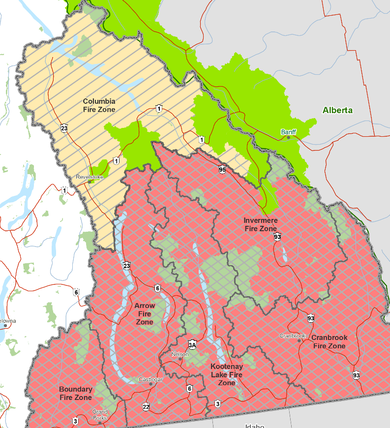 Campfire ban lifted in Columbia Fire Zone, remains in effect for rest of Southeast Fire Centre