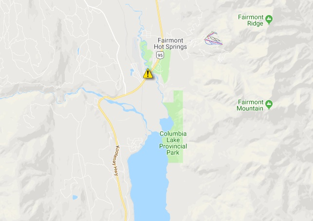 UPDATE: Highway 93 clear in Fairmont Hot Springs