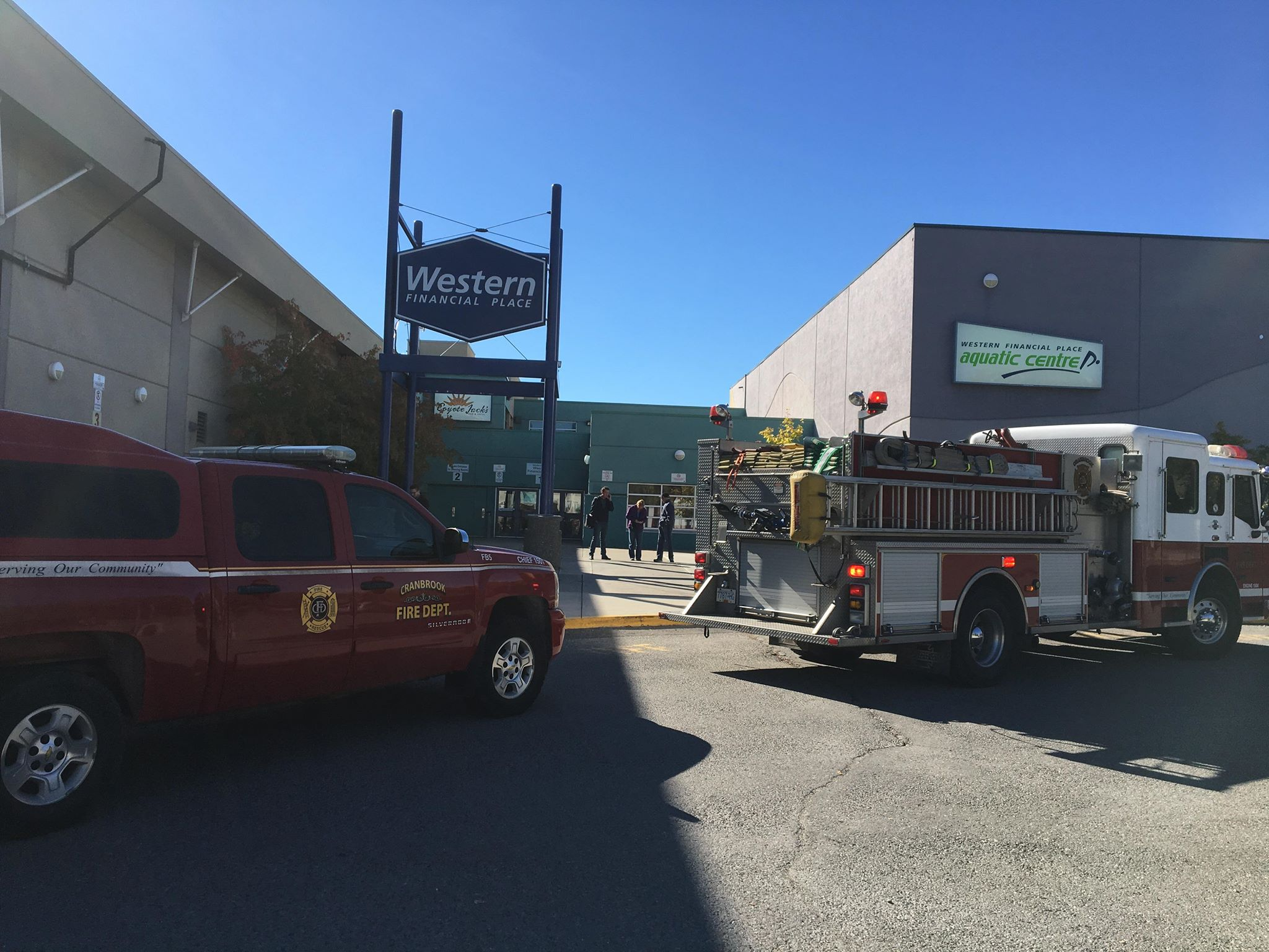 All patrons allowed inside Cranbrook's Western Financial Place following gas leak