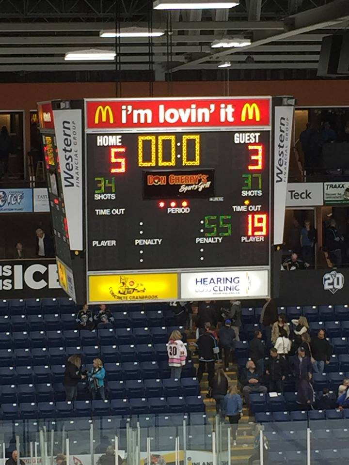 Kootenay ICE win over Hitmen in WHL season opener