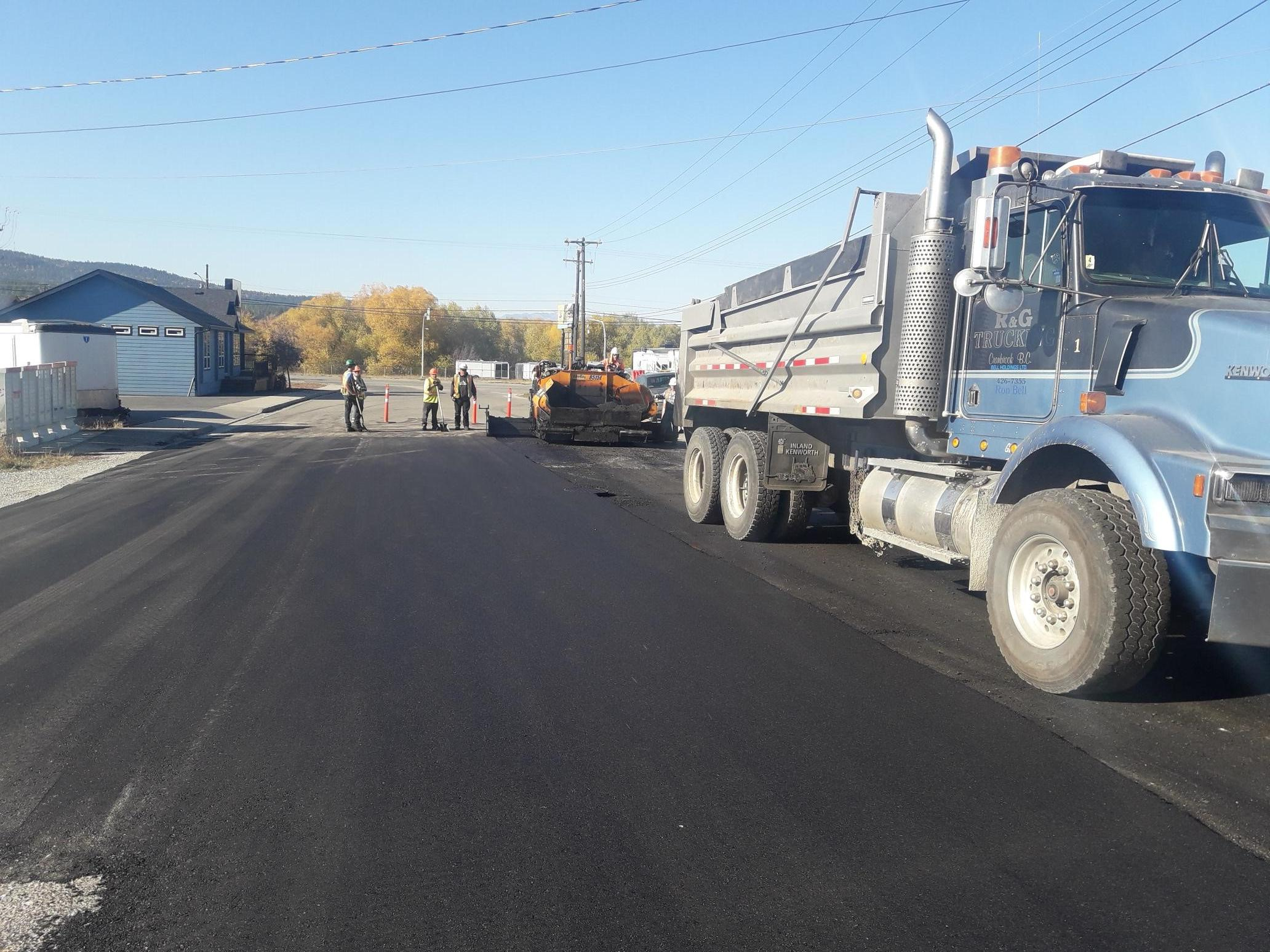 Cranbrook's 2018 capital roads program nearly finished
