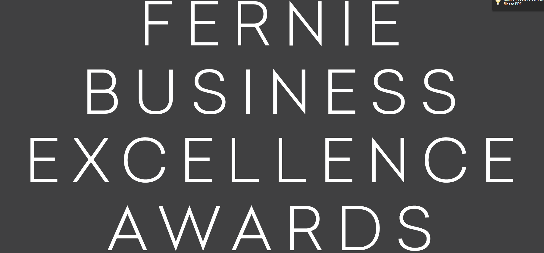 Fernie Chamber of Commerce announces Business Excellence Awards finalists