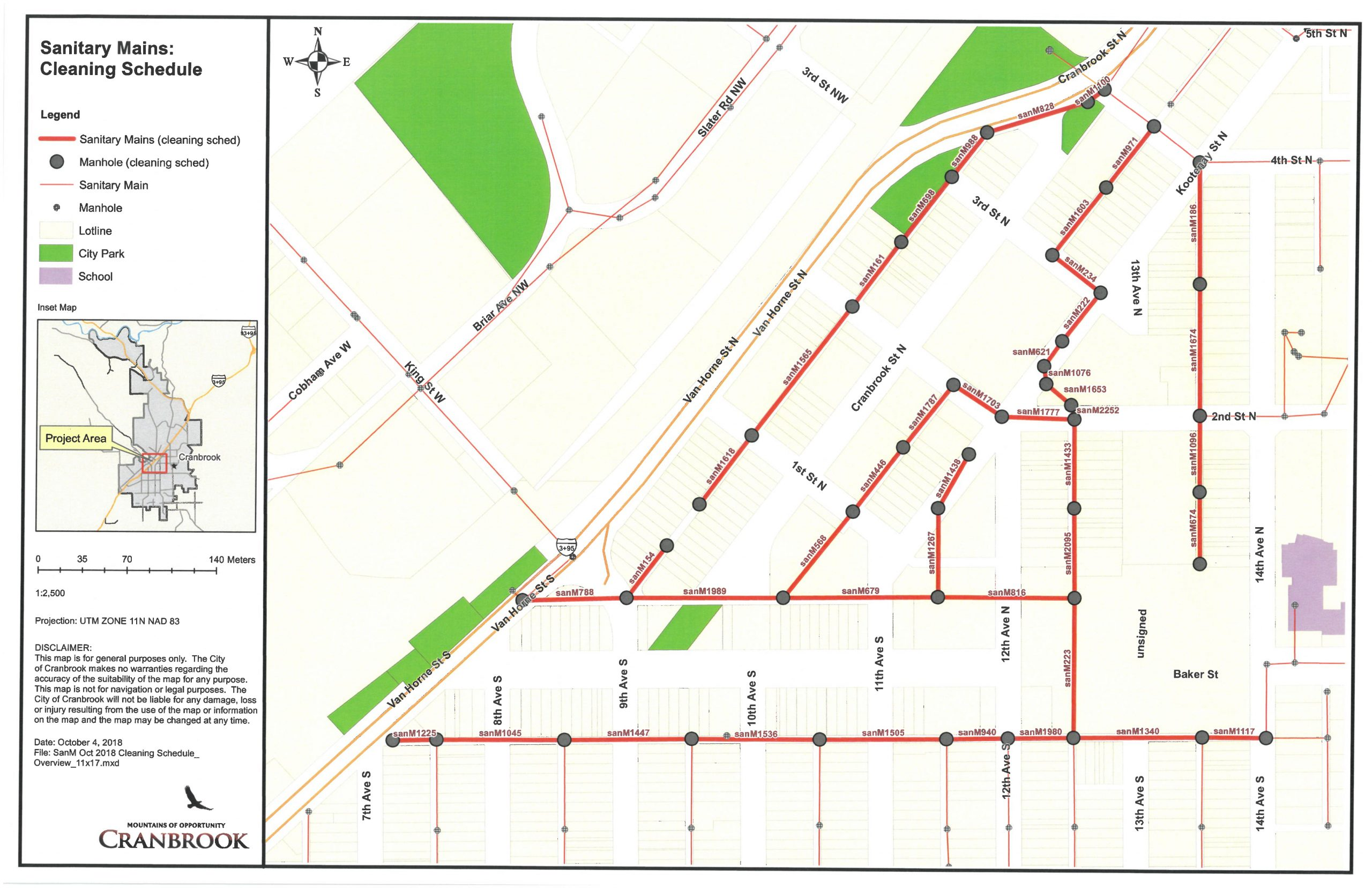 City of Cranbrook to begin sanitary sewer cleaning operations this week
