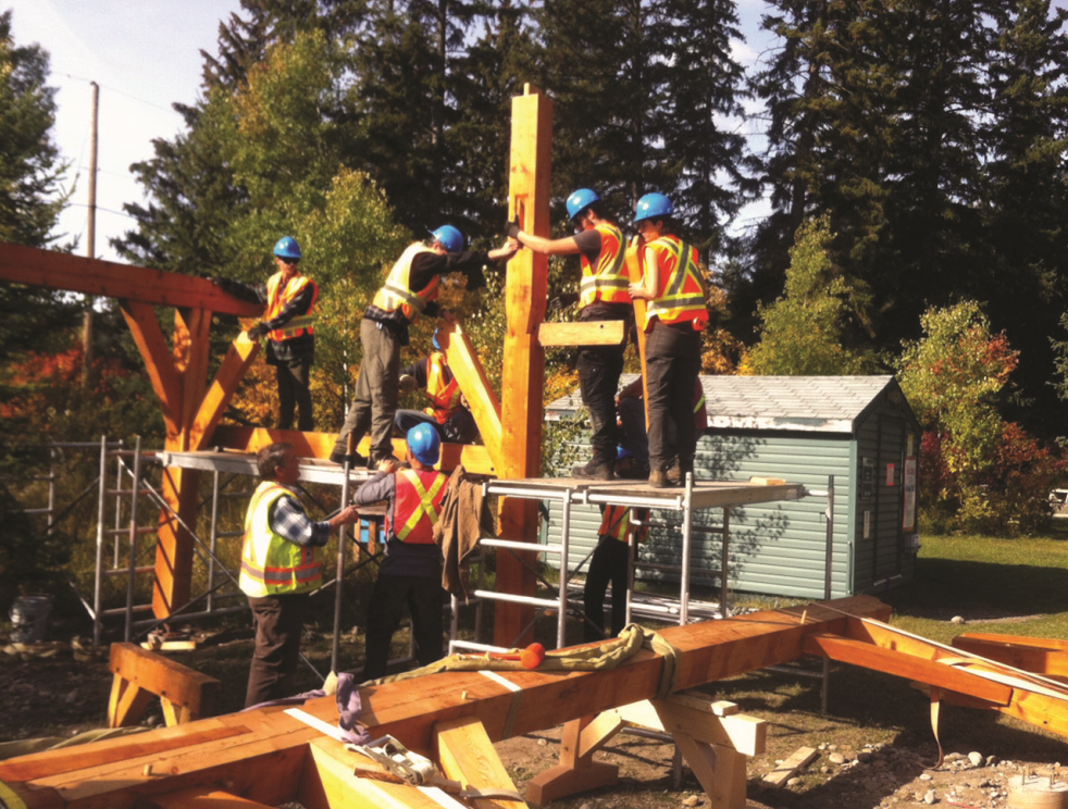 COTR students raise new shelter at Kootenay Trout Hatchery