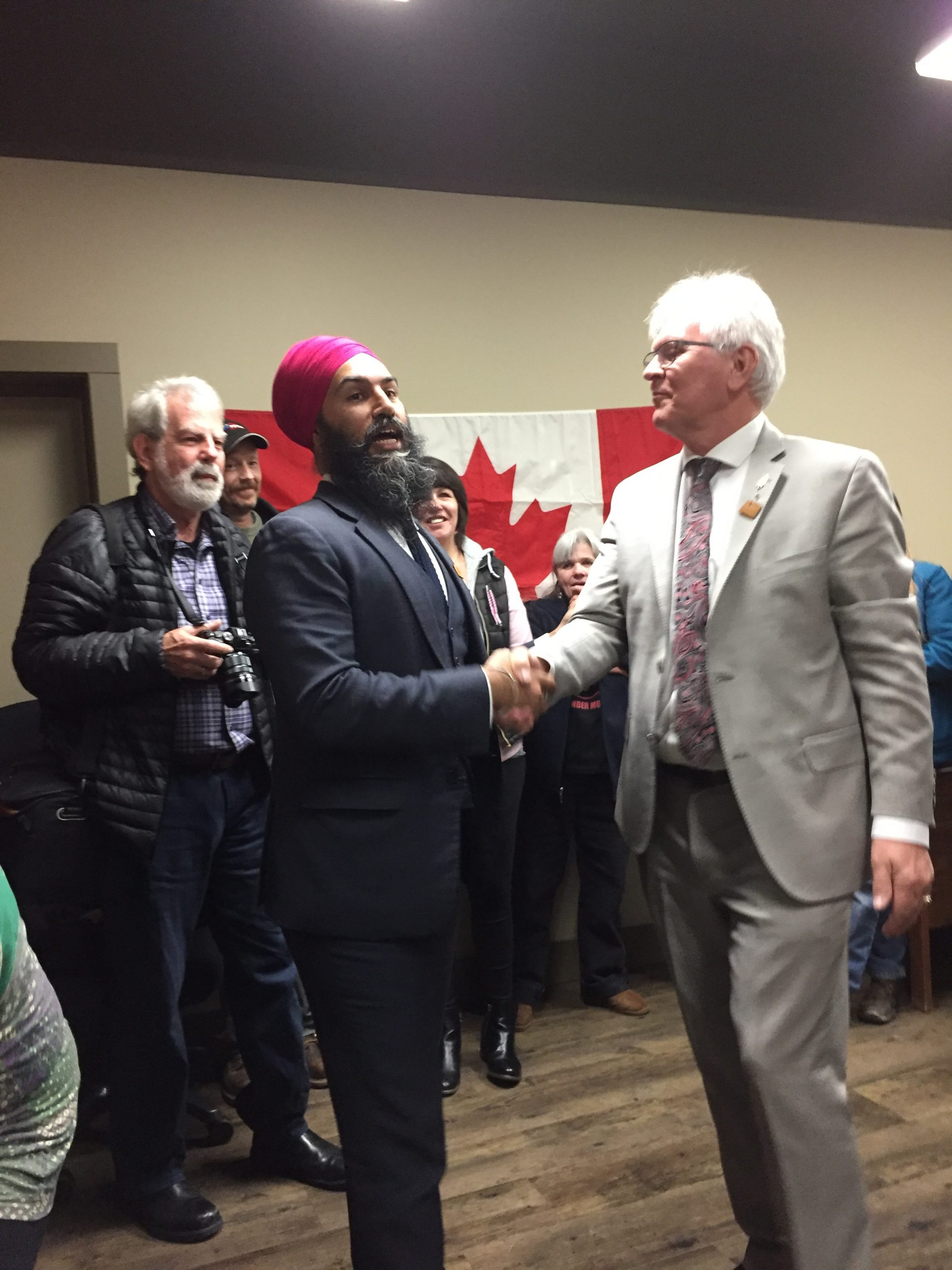 """Cranbrook residents attend """"Jagmeet and greet"""" at MP office"""