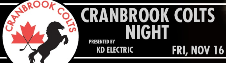 ICE celebrating Cranbrook Colts Night as they host Calgary