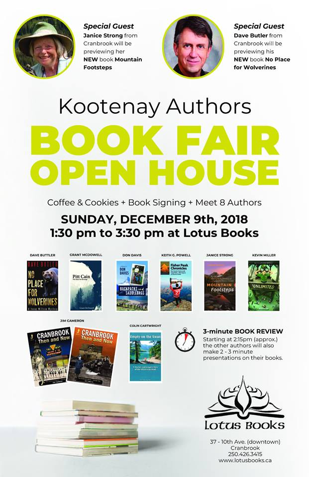 Meet local authors at Cranbrook book fair