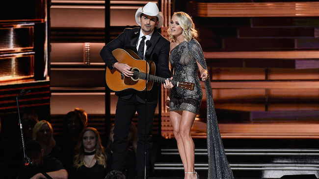 Brad Paisley and Carrie Underwood talk CMAs