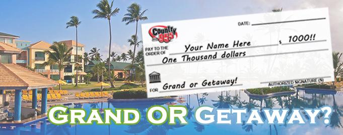 Grand or Getaway $1000 Winner #3!