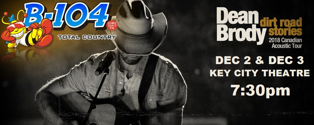 Feature: https://www.keycitytheatre.com/upcoming-events/2018/12/2/dean-brody-dirt-road-acoustic-tour
