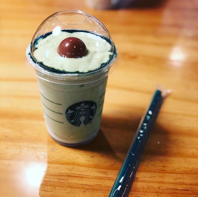 Guys! Starbucks has a new AVOCADO drink! Don't tell Julia though...