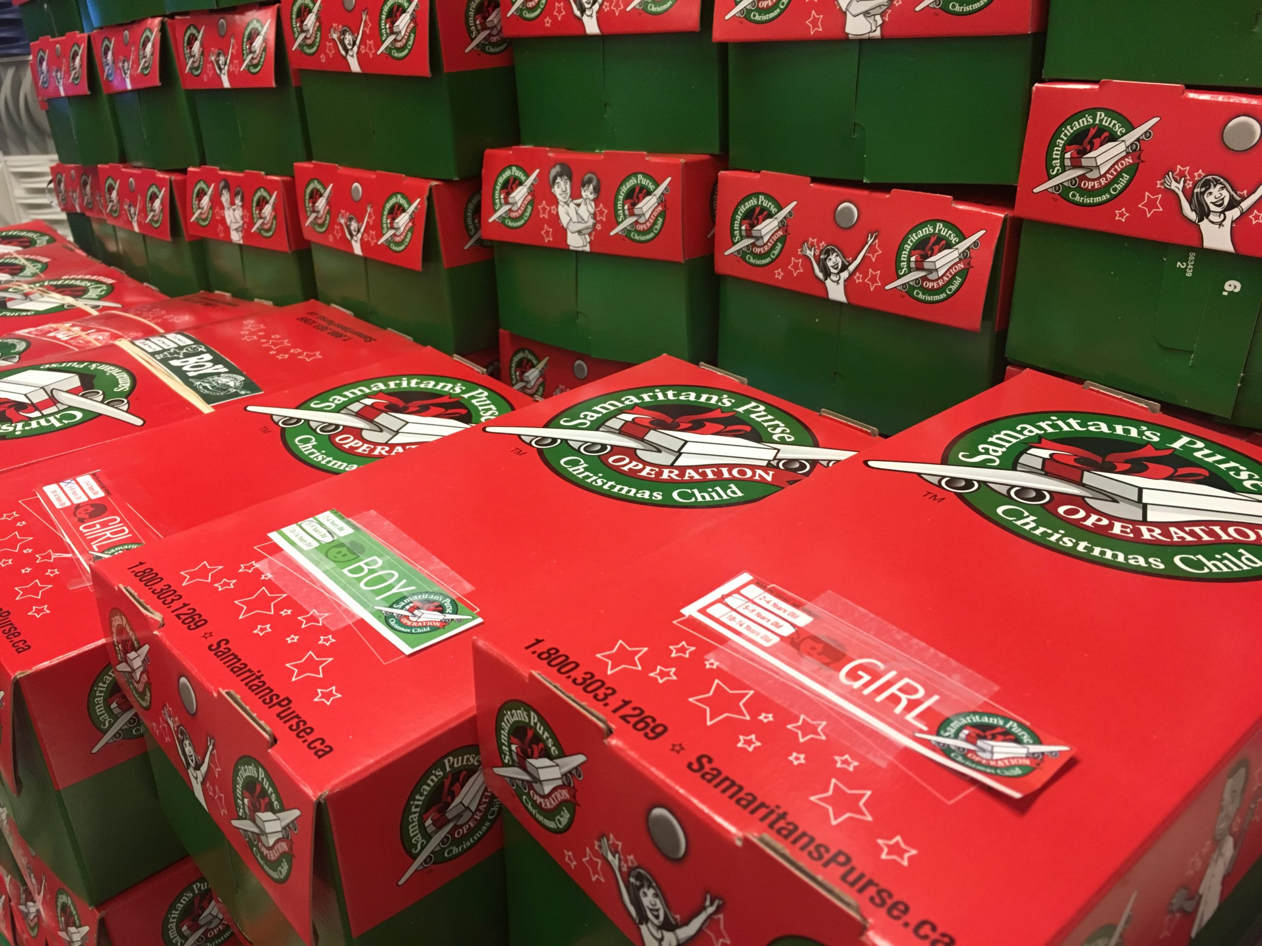 Tomorrow is your last day to return shoe boxes for #OperationChristmasChild!