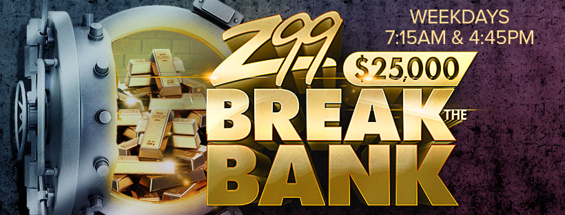 Z99's $25,000 Break the Bank House Call with CC