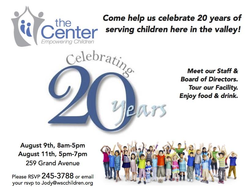 Western Slope Center for Children Open House   1340 The Team