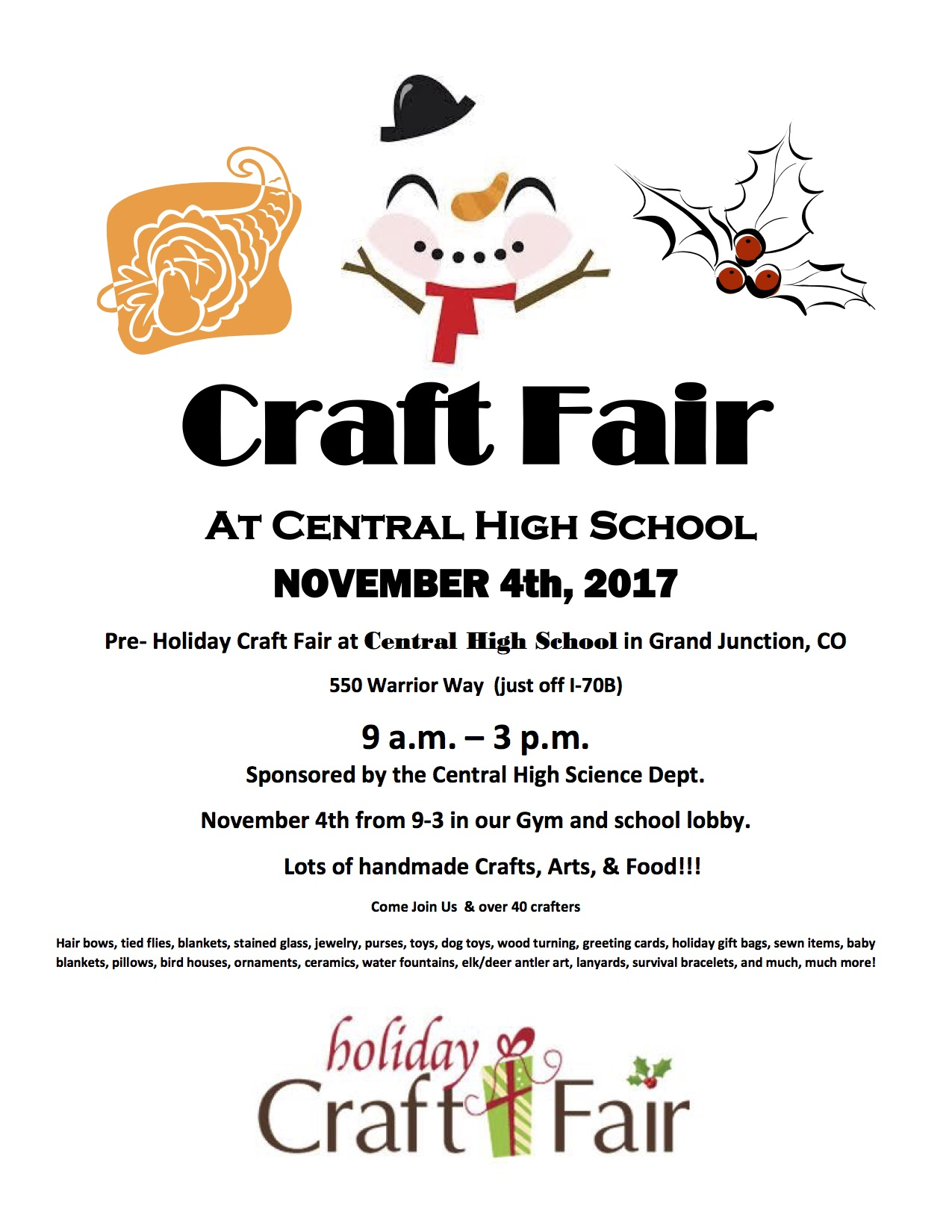 Central High School Science Department Craft Fair Magic 93 1