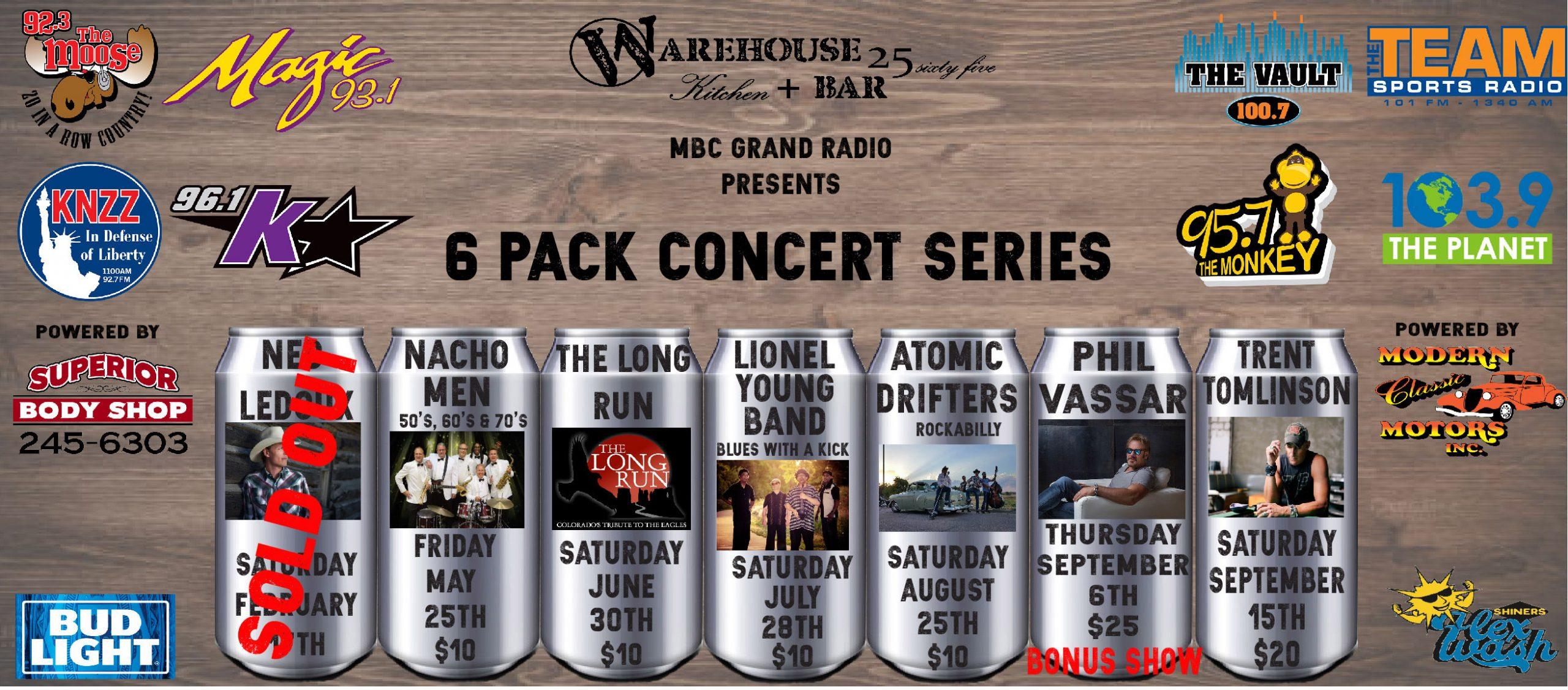 Feature: https://www.eventbrite.com/o/6-pack-concert-series-16798219143