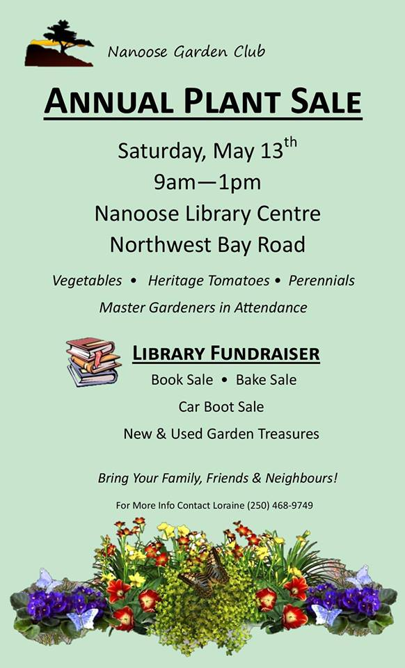 The Nanoose Garden Clubu0027s Annual Plant Sale Is Coming Up On Saturday, May  12th, From 9 To 1 P.m.