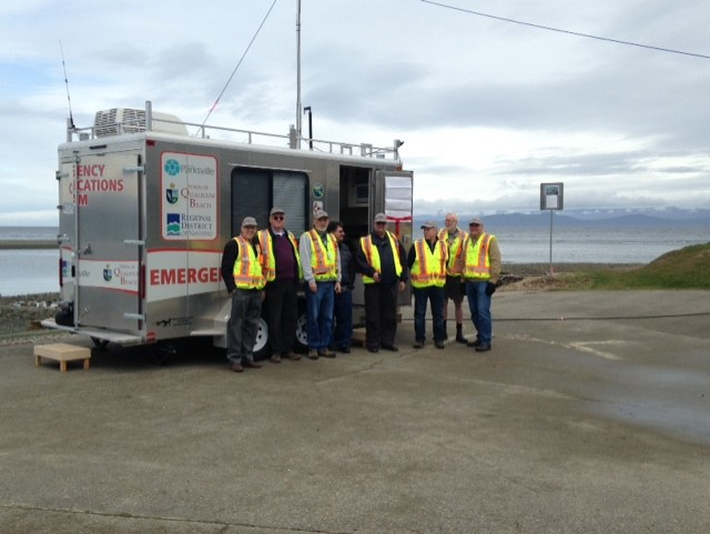 Multi agency emergency drill takes over Parksville's Community Park.