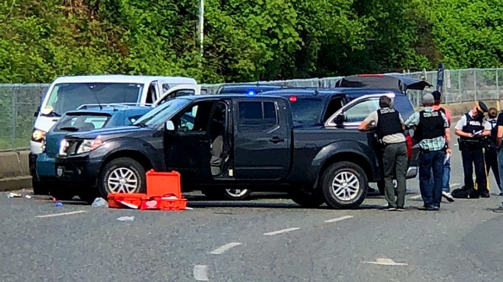 Shooting and carjacking in Okanagan possibly linked to policed-involved shooting in Nanaimo: RCMP