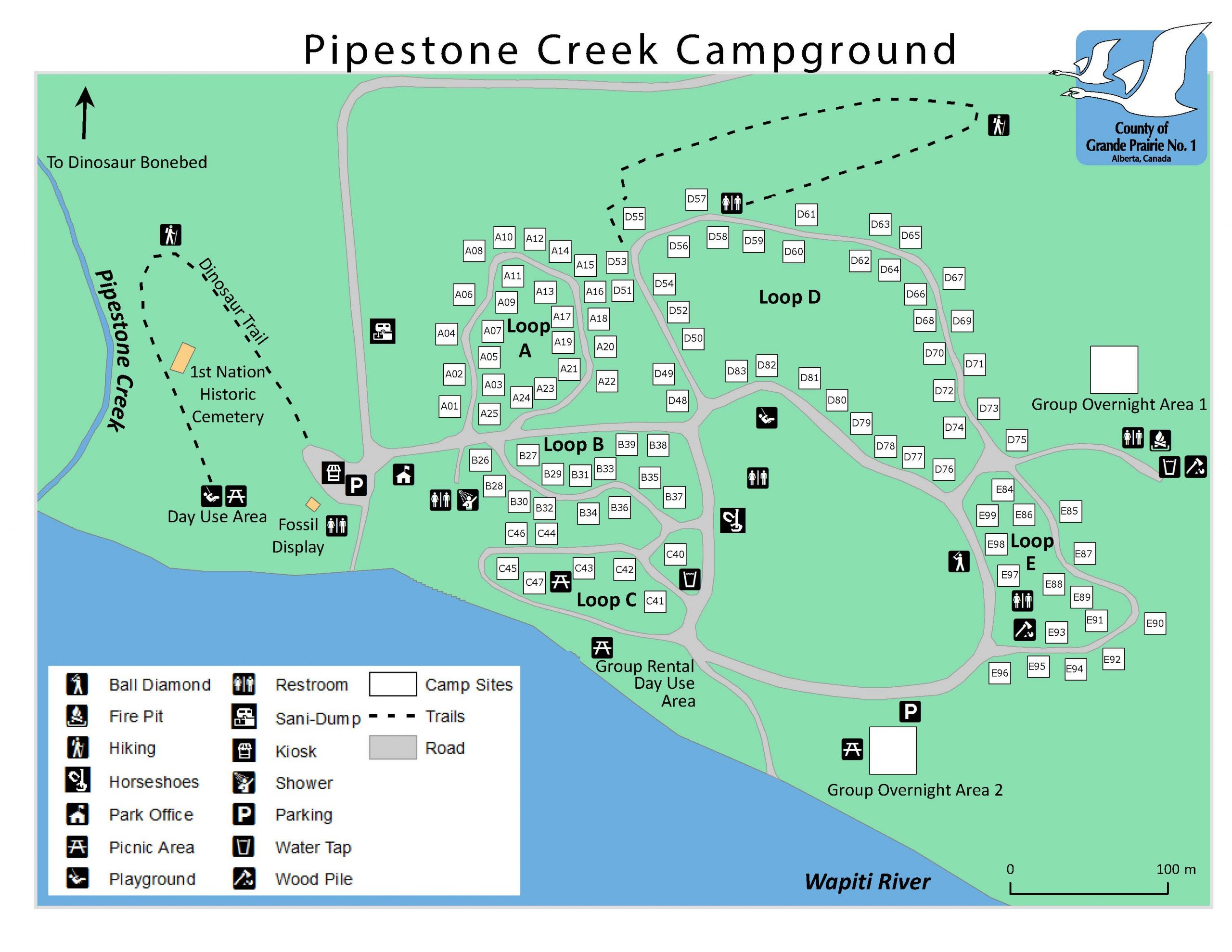Pipestone Creek Campground online booking pilot project
