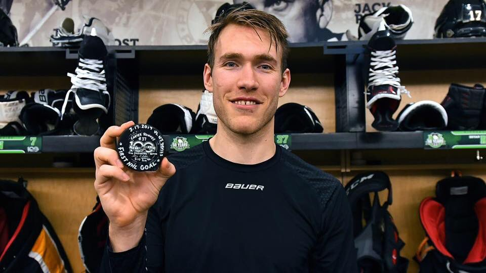 Sexsmith's Carter Rowney is livin' the dream